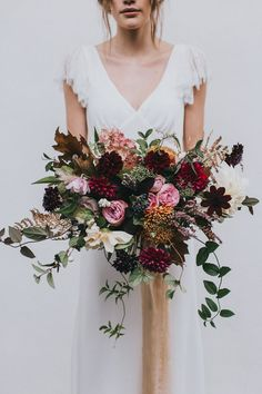 Autumn Flowers by Number 27 Floral Design - Stylish Autumnal Wedding Shoot From Top UK Wedding Suppliers The Wedding Collective   Images by Matt Horan Photography
