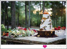 Rustic fall wedding at Hammond Preston House by Charlotte wedding photographer Christi Falls Photography.