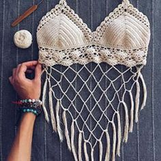 Pdf file for crochet pattern coralia crochet crop top and brazilian bottom sizes xs l bikini top crochet bikini pattern – Artofit Crochet Halter Tops, Motif Bikini Crochet, Crochet Bra, Crochet Crop Top, Crochet Clothes, Knitted Swimsuit, Diy Vetement, Crochet Fashion, Crochet Patterns