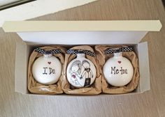 Wedding Ornament Keepsake Gift Personalized Bride Groom Unique I Do Me Too