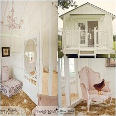Tallahassee, FL stockist Sweet South Cottage and Farms shares this swanky chicken coop accented in Chalk Paint® decorative paint by Annie Sloan!