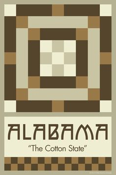 Olde America Antiques | Quilt Blocks | National Parks | Bozeman Montana : 50 STATE QUILT BLOCK SERIES - ALABAMA - version 2
