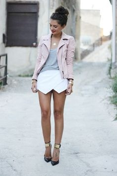 jacket!, neural pink/grey, awesome skirt, professional/casual longer skirt