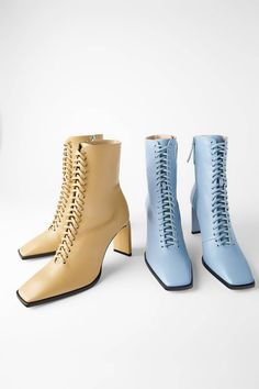 10 Fall Trends We're Already Buying at Zara in 2019 Zara is already stocking up on some of fall hottest trends. Find out which ones we think are worth buying right now. High Heel Pumps, High Heel Boots, Shoes Heels Boots, Heeled Boots, Kitten Heel Boots, High Shoes, Leather High Heels, Leather Ankle Boots, Ankle Booties