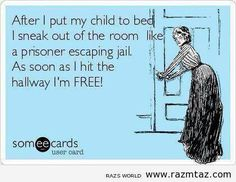 Sneaking from a child's room