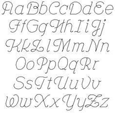 different styles of the alphabet upper and lowercase letters - Yahoo Image Search Results Fancy Handwriting, Handwriting Alphabet, Hand Lettering Alphabet, Doodle Lettering, Creative Lettering, Lettering Styles, Script Lettering, Upper And Lowercase Letters, Cursive Letters