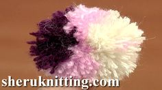MULTI COLOR POM POM http://sheruknitting.com/videos-about-knitting/crochet-elements-and-projects/item/646-multi-color-pom-pom.html Tutorial 12 part 8 of 8. Learn how to make a fluffy yarn pompom on your hand, hand made pompoms. This video shows you a great and super easy way to make a cute little three color pompom with no additional tools needed.
