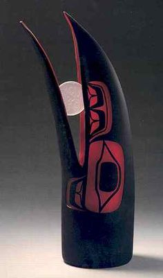 Preston Singletary, Raven Steals the Moon, 2002, blown and sand carved glass, 16 1/2 x 9 inches. Photograph by M. Lee Fatheree, Oakland, CA. Courtesy of Museum of Craft and Folk Art, San Francisco, CA.