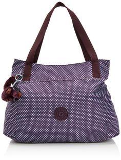 Kipling Womens Pravia Shoulder Bag K16618900 Black: Amazon.co.uk: Shoes & Bags Sacs Kipling, Kipling Handbags, Work Purse, Denim Tote Bags, Large Wallet, Casual Boots, Black Handbags, Violet, Small Bags