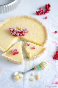 ... white chocolate lemon tart ...