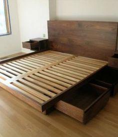 Do-It-Yourself кровать с ящиками - Ваши проекты @ OBN