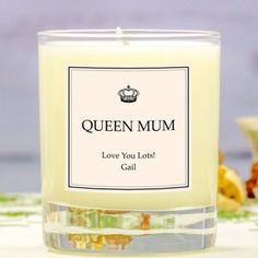Personalised Mother's Day Scented Candle - Queen Mum