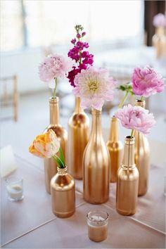 centre de table floral vase idée déco table fleurs