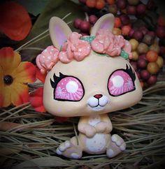 Littlest Pet Shop Chibi Forest Spirit Faun bunny ooak custom