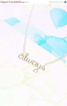 Always Necklace  Harry Potter Snape Love Quote by Exaltation NOW!