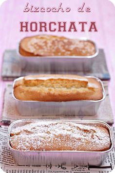 Un hecho con Horchata, Baking Recipes, Dessert Recipes, Bread Recipes, Delicious Desserts, Yummy Food, Yummy Yummy, Just Cakes, Pound Cake Recipes