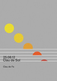 Clau de Sol Poster   Music at dawn Festival by MARIN DSGN, via Flickr