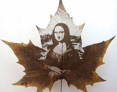 Leaf-Art: Mona Lisa smiles through a Chinar leaf via @drpremj http://drprem.com/green/leaf-art-mona-lisa-smiles-through-a-chinar-leaf/