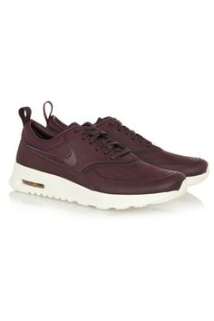 White rubber sole measures approximately 40mm/ 1.5 inches Merlot leather and satin-jacquard Lace-up front Designer color: Mahogany