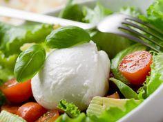 Avocado, mozzarella and tomato salad