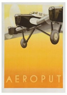 Aeroput travel poster