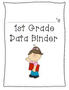 Student Data Binders first grade k-2