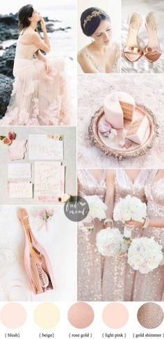 Blush Rose Gold Color Combination
