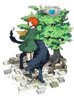 Chise Hatori et Ruth - Mahou Tsukai no Yome Kore Yamazaki, Manga Art, Anime Art, Elias Ainsworth, Chise Hatori, Sorry Gifts, The Ancient Magus Bride, Anime Shows, Me Me Me Anime