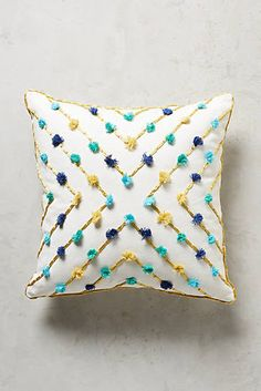 Embroidered Suzette Pillow