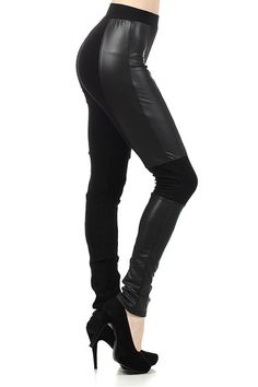 Ladies, your must have fashion leggings are here! The Diablo Faux Leather Leggings are the perfect fit for your high fashion wardrobe. Made from premium faux leather with spandex accents, these amazing leggings promise to put you into the spot light of women's fashion. From the runway to your closet, our Diablo Faux Leather Leggings are an essential wardrobe staple with day to night comfort in a sleek faux leather and cotton constructed look