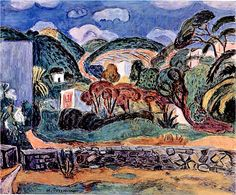 Purrmann, Hans (1880-1966) - 1958 Hills of Ischia (Private Collection) by RasMarley, via Flickr