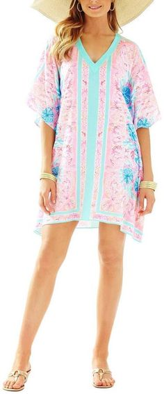 Lilly Pulitzer Thea V-Neck Caftan-Dress