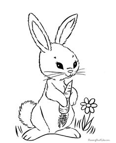 Who Doesnt Love Spring Flowers Easter Baskets And Bunnies Coloring PagesColoring