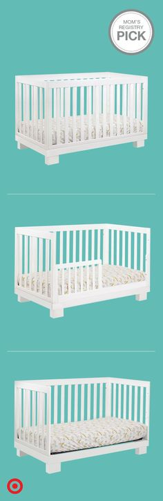 Sleek and sophisticated, the Babyletto Modo 3-in-1 Convertible Crib is a baby registry must-have. Complementing a variety of styles, this nursery classic grows with your child in style, transitioning from a crib to a toddler bed or daybed. Plus, the all-slat sides allow you to keep an eye on Baby from every angle.