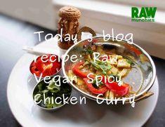 Coconut Chicken, Raw Vegan Recipes, Chicken Curry, Caprese Salad, Glutenfree, Spicy, Website, Blog, Instagram