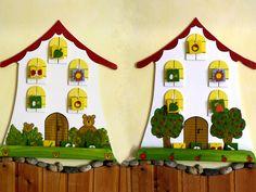 Maci és alma Advent Calendar, Holiday Decor, Bears, Home Decor, Creative, Decoration Home, Bear, Interior Design, Home Interior Design