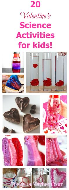 Valentine's Day isn't just for the adults. Share the holiday fun with these 20 Valentine's science activities for kids! Hands on science to love. ;)