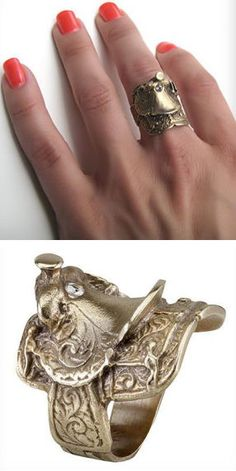 Saddle Ring ♥ #country #love. Kristi: Perfect present for Anna or Kacey!