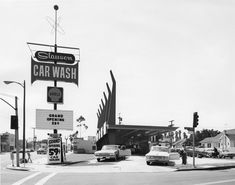 ARTIST: George Tate  TITLE: Slauson Car Wash, Los Angeles, CA  DATE: c. 1960  MEDIUM: vintage gelatin silver print  SIZE: h: 11 x w: 14 in