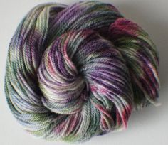 Hand Painted Yarn Hand Dyed Pure Wool 210 by FashionTouchSupplies