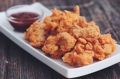 popcorn chik'un with bbq sauce #vegan #beyondmeat | RECIPE on hotforfoodblog.com