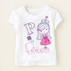 baby girl - graphic tees - princess graphic tee | Children's Clothing | Kids Clothes | The Children's Place
