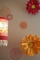 Wallflowers! Large Paper Flowers, Orange Pattern, April Showers, Paper Decorations, Flower Wall, Color Schemes, Hot Pink, Vibrant Colors, Artsy