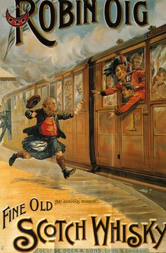 Robin Oig Fine Old Scotch Whisky sign 1898 #whisky #jetudielacom