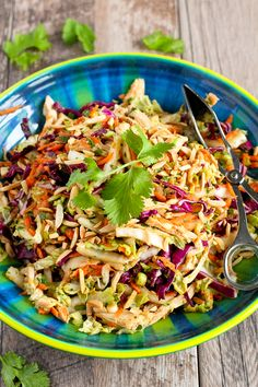 Thai Chicken Salad Recipe…It's virtually impossible to stop eating this delicious, healthy salad! 236 calories and 5 Weight Watcher SmartPoints from @cookincanuck