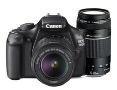 Canon EOS 1100D Digital SLR Twin Lens Kit (18-55mm & 75-300mm) - Harvey Norman