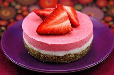 Raw Strawberry Dreamcake - a Top 100 gluten free recipe of 2014! - FaveGlutenFreeRecipes.com