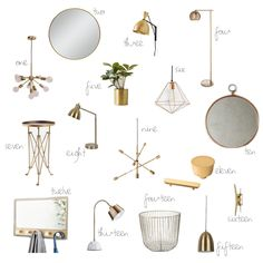 New Darlings - Home Decor - Brass Accents