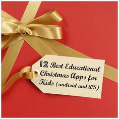12 Best Educational Christmas apps for kids- for iOS and Android- toddlers, preschoolers, school age apps that help with teaching reading, number recognition, patterning, counting, and just Christmas fun!
