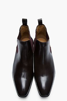 PS PAUL SMITH Dark brown leather Falconer boot